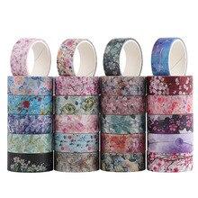 24 Pcs/Set Cute Flower Washi Tape Vintage Masking Tape Decorative Adhesive Tape Sticker Scrapbooking Japanese Diary Stationery