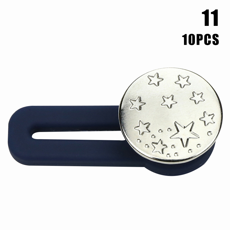 10pcs Jeans Retractable Button Adjustable Detachable Extended Button For Clothing Jeans LL@17