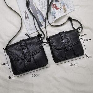 Image 4 - Weiche leder Frauen umhängetasche lässig frauen schulter crossbody tasche weibliche handtasche Schwarz bolsa feminina mädchen tasche