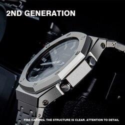 Neue Ankunft GA2100 Uhr band lünette Strap Metall Edelstahl Armband Rahmen Armband Zubehör mit Reparatur Werkzeug