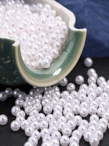 Bouquet Jewelry Finding-Accessory Decoration Pearl-Beads Crafts Round ABS 1000PCS