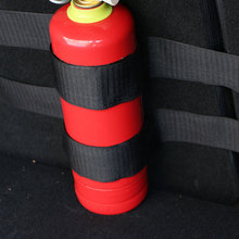 4 Pcs/Set Fire Extinguisher Car Trunk Belts Storage Bag Magic Tapes Fixing Bandage Bracket Stickers Straps Fastener Car Styling speedwow car styling 4pcs set car trunk receive store content bag storage network fixed fire extinguisher magic strip fixed belt