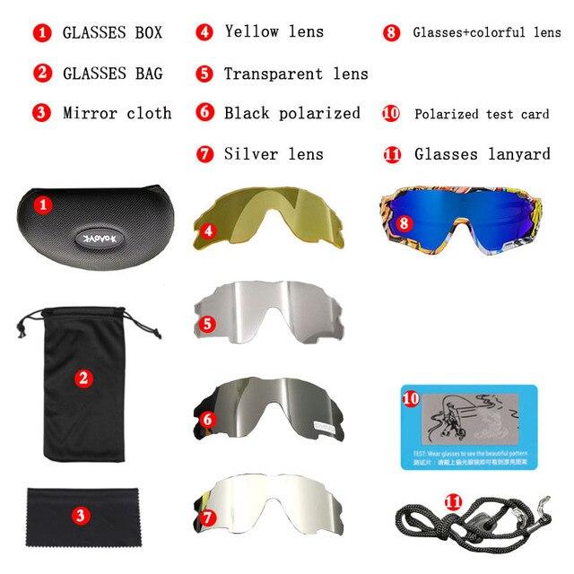 2019 Brand Polarized  Mountain Bike Sports Bicycle Cycling Sunglasses Gafas Ciclismo MTB Cycling Glasses Eyewear Sunglasses 4