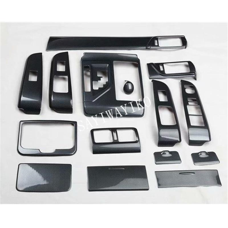 15pcs/set ABS Carbon Fiber Automotive Interior For Toyota Camry 2012 2013 2014 2015 2016 2017 LHD Car Accessories