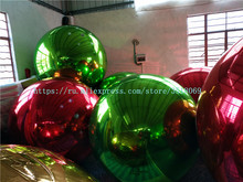 Large inflatable mirror ball for commercial advertising, available in a variety of colors and sizes
