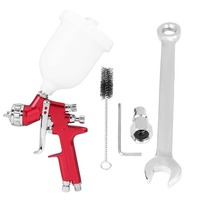 Professional Spray Gun 1.3mm Nozzle HVLP Gravity Feed Air Paint Spray Gun Set Zinc Alloy with 600CC Cup for Painting Cars