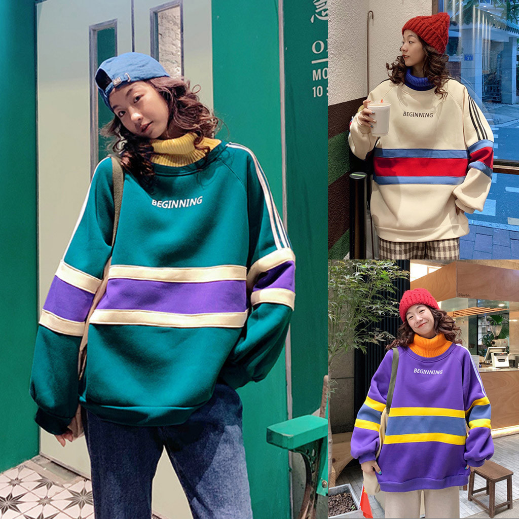 sudaderas mujer 2020 ropa mujer bluza damska hoodies women High collar Splicing Thickening Casual Long Sleeve sweatshirt women
