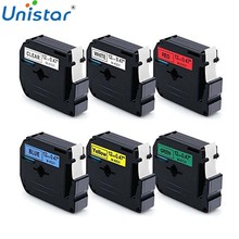 "Unistar M231 Compatibel met Brother 12mm (0.47 "") x 8m M Tape P-touch Label Maker PT-90 PT-M95 PT-65 PT-70 PT-70BM PT-80 Linten(China)"