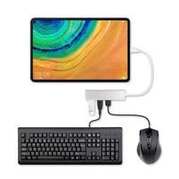 Adaptador de USB-C de aleación de aluminio 5 en 1 Tipo C HUB USB 3,0 Puerto SD/lector de tarjetas TF para Huawei MatePad Pro 10,8 10,4 pulgadas funda para tableta