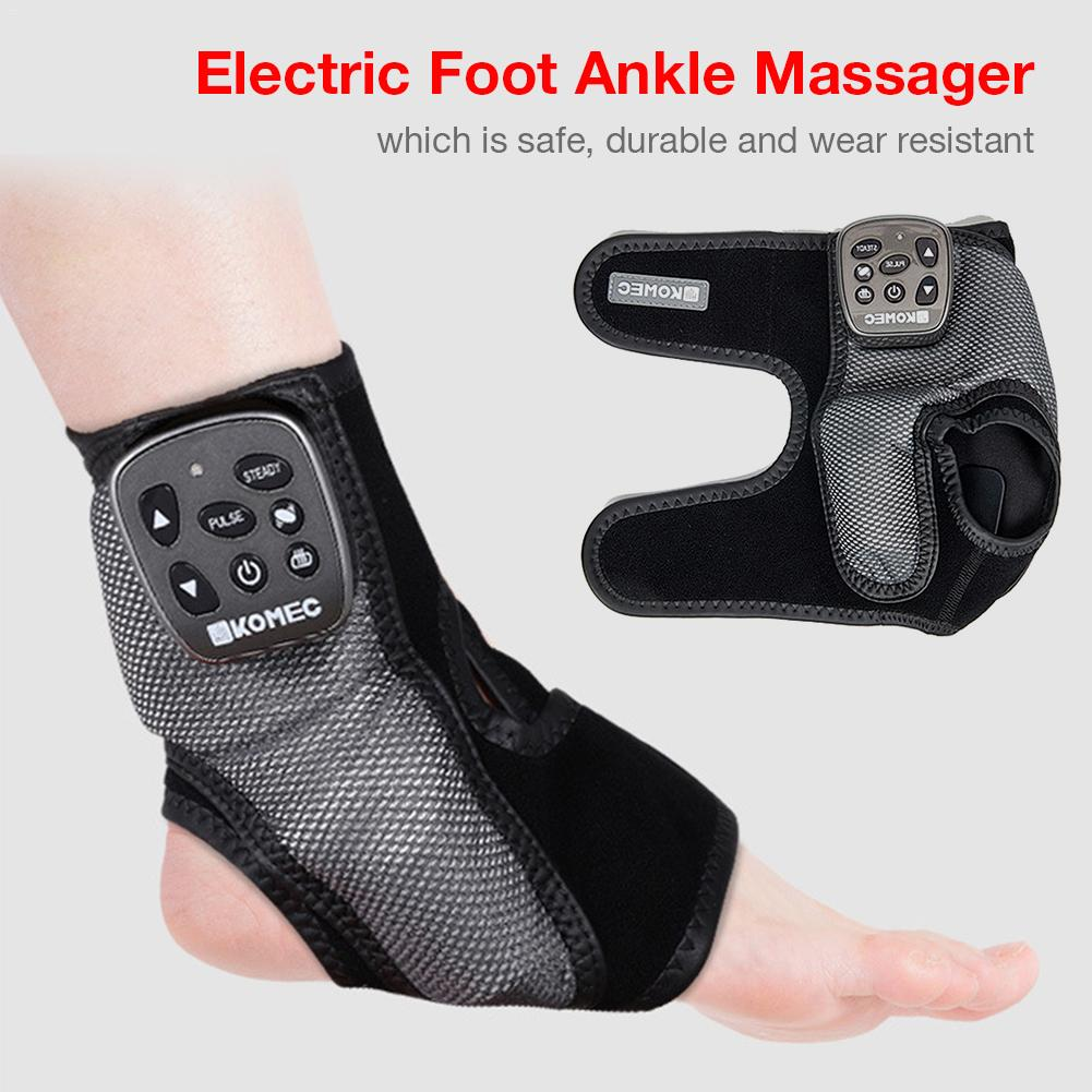 Electric Foot Ankle Massager Vibration Heating Massage For Ligament Strain Pain Relief Wireless Multi-frequency Ankle Massage Be