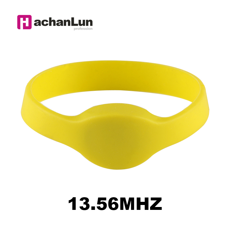 5pcs/lot 13.56Mhz RFID NFC Smart MF 1K S50 For Access Control Wristband Silicone Electronic Bracelets Wrist Band