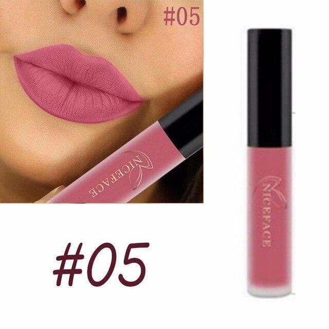 Matte Liquid Lipstick Waterproof Long Lasting Velvet Mate Nude Red Lip Gloss Lint Tube Makeup Cosmetics Lipsticks 5