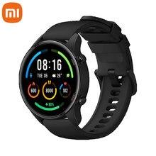 Xiaomi mi relógio de oxigênio no sangue gps smartwatch bluetooth fitness monitor de freqüência cardíaca 5atm à prova dwaterproof água mi relógio inteligente versão global