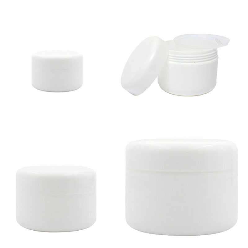 30Pcs Plastic Empty Makeup Jar Pot 10g/20g/30g/50g Refillable Sample Bottles Travel Face Cream Lotion Cosmetic Container White