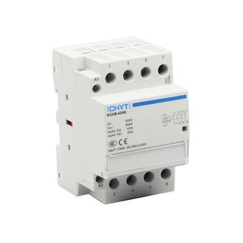 цена на ICHYTI 4P 63A 220V 400V~ 50/60HZ Din rail Household ac Modular contactor 4NO 2NO 2NC 4NC for Car charging pile