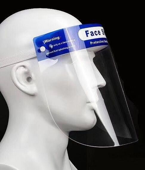10pcs per set transparent PET anti virus face shield , anti infection face mask 2