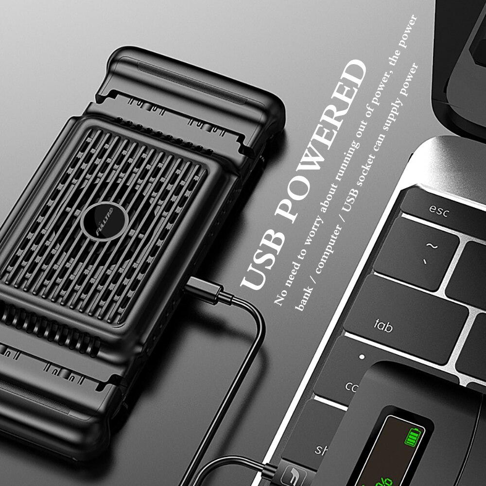 Мобильный телефон охлаждающий чехол для телефона с зажимом, два режима охлаждения телефона, бесшумный вентилятор для игры PUBG, Охлаждающий р...