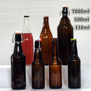 330ml/550ml beer bottles empty brown glass bottle for wine 1pc
