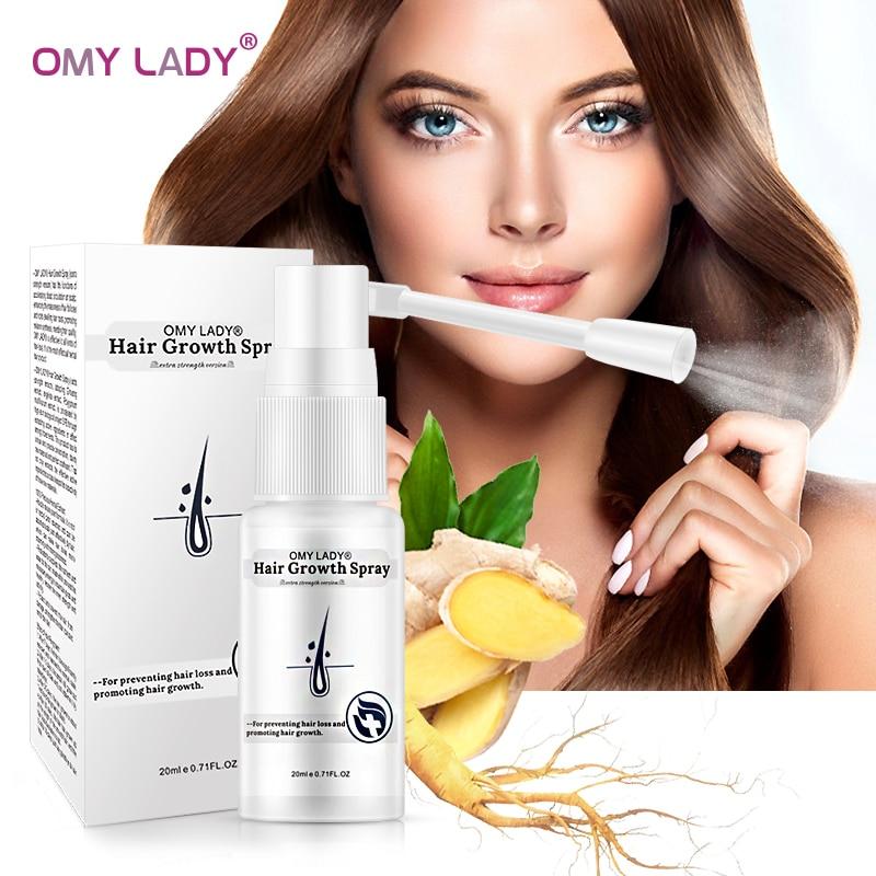 OMY LADY Anti Hair Loss Hair Growth Spray Essential Oil Liquid For Men Women Dry Hair Regeneration Repair Hair Loss Product 20ML