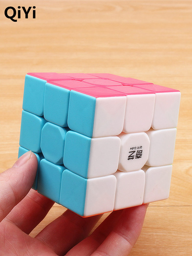 Cubes-Toys Speed-Cube Puzzle 3x3x3 Qiyi Warrior Stickerless Antistress Educational Colorful