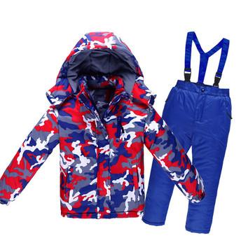 Zimowy kombinezon narciarski dla dzieci wodoodporna wiatroodporna kurtka dla dzieci i zestaw spodni śniegowych chłopcy dziewczęta narciarstwo kurtki snowboardowe tanie i dobre opinie Dobrze pasuje do rozmiaru wybierz swój normalny rozmiar CN (pochodzenie) cyf368 Drukuj wiatroszczelna POLIESTER