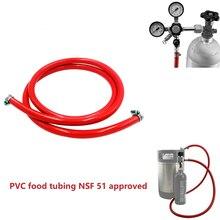 PVC מזון גז קו צינור צינורות 5/16 אינץ מזהה & 9/16 אינץ OD עבור טיוטת בירה מתבשל 5ft 1.5m