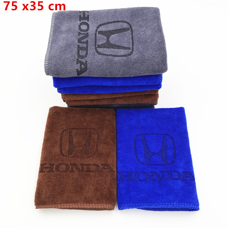 75x35 Microfiber Towel Car Cleaning Drying Cloth For Honda Mugen Civic City Accord Odyssey Spirior CRV Car Wash