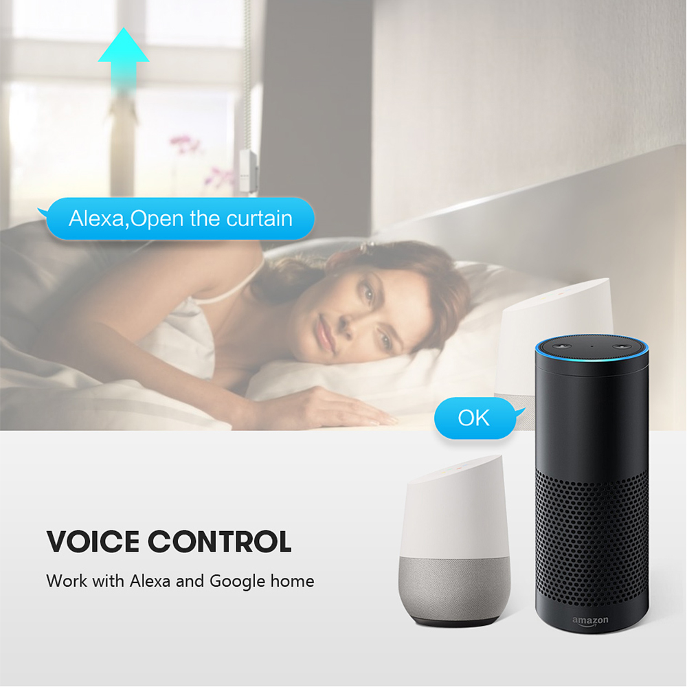 Hot DealsAVATTO Chain-Roller Blinds Shade Shutter-Drive Motor-Work Voice-Control Tuya-Wifi Remote