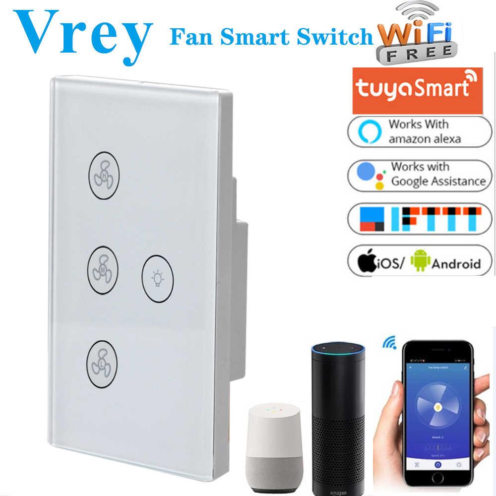 Eu Us Wifi Smart Fan Switch Alexa Google Home Smart Ceiling Fan Switch Speed Group Control Speed Regulation Home Wall Fan Switch Switches Aliexpress