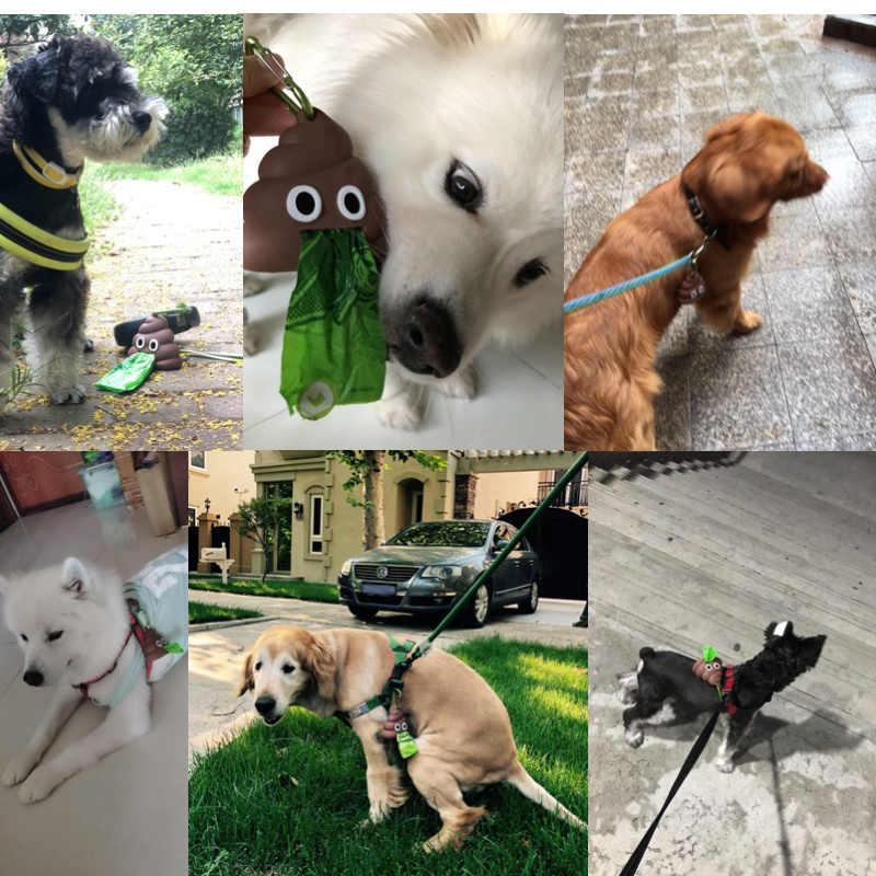 Sıcak satış Pet köpek dışkı torbası dağıtıcısı atık çöp tutucu dağıtıcıları kaka poşetleri evcil köpekler çöp temizleme köpek oyuncak Pet malzemeleri