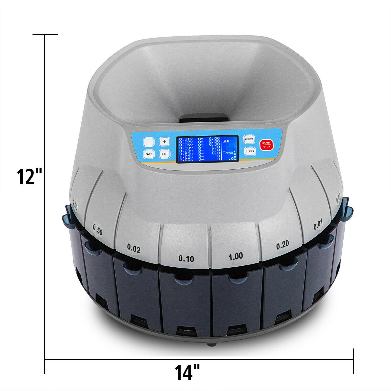 Automatic Coin Counter Sorter GBP Pound Counting Machine