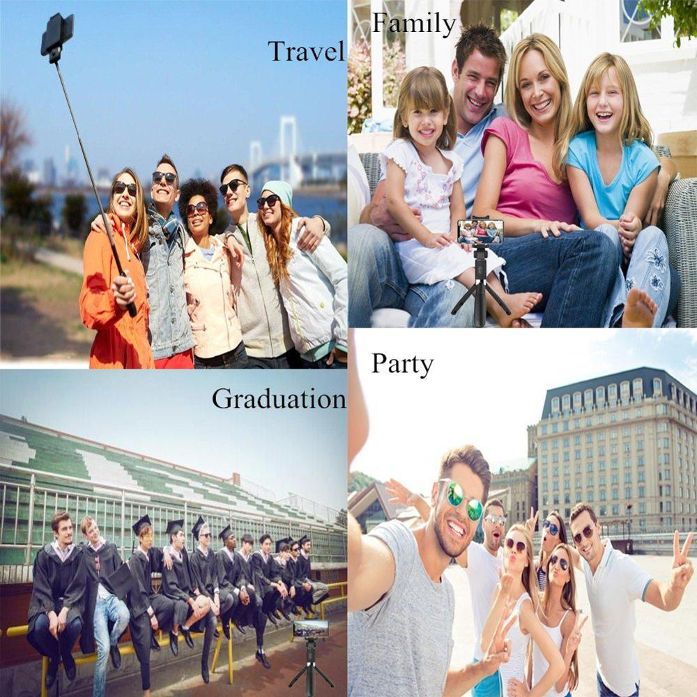 Selfie Stick Bluetooth Selfie Stick Tripod For Phone 3 In 1 Wireless Monopod For Smartphone Mobile Foldable Handheld L01