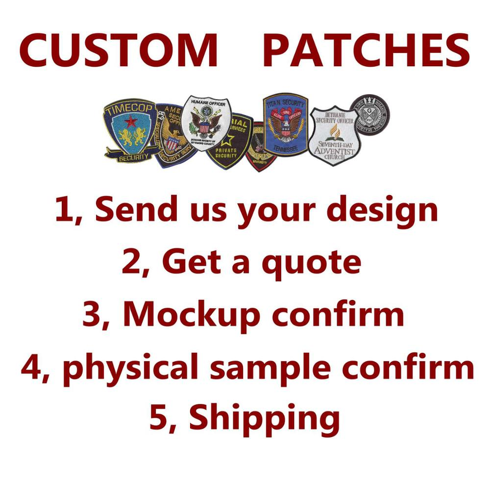 Reasonable Price Custom Security Patches Embroidery Patches For Clothing Sewn-on Backing Uniform Patch Badges Patche