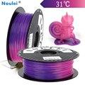 Noulei 3D Stampante Filamento PLA 1.75 millimetri 1kg Temperatura Cambiamento di Colore di Plastica Cambiamento di Temperatura Materiale