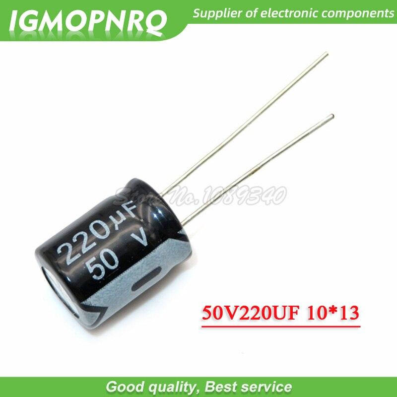 20PCS 50V220UF 10*13mm 220UF 50V 10*13 Aluminum Electrolytic Capacitor