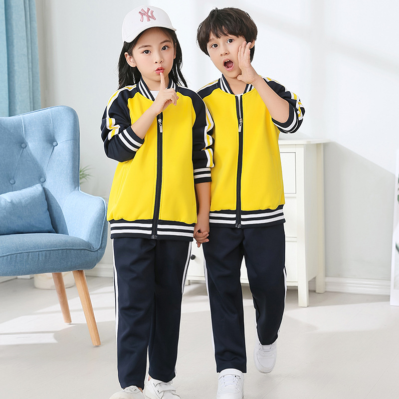 Autumn And Winter Parent And Child Sports Set Groups Sports Clothing Long Sleeve Kindergarten Suit Coat Primary School STUDENT'S