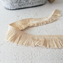 1m Beige High quality Cotton Lace Tassel Fringed Accessories Handmade DIY Beard Dress Skirt Clothing Decoration Curtain Edge(China)