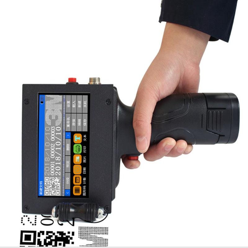 Handheld Printer Label Inkjet QR Printet USB Automatic Coding Machine Date English Smart Encoder LED Touch Screen110-220V