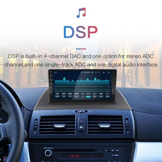 """9 """"2din radio samochodowe z androidem GPS nawigacja wifi IPS odtwarzacz dla 2004-2012 BMW X3 E83 2.0i 2.5i 2.5si 3.0i 3.0si 2.0d 3.0d nie DVD"""