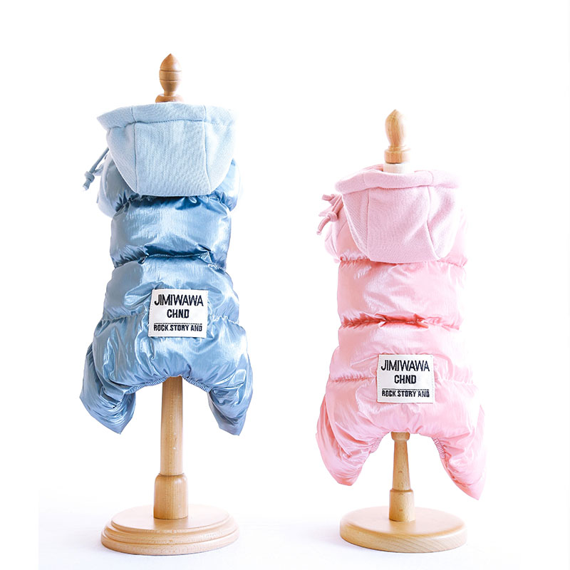 2019 New Dog Clothes Hoodies Overalls for Dogs Winter Pet Cotton Sportswear Thick For Small Jumpsuit