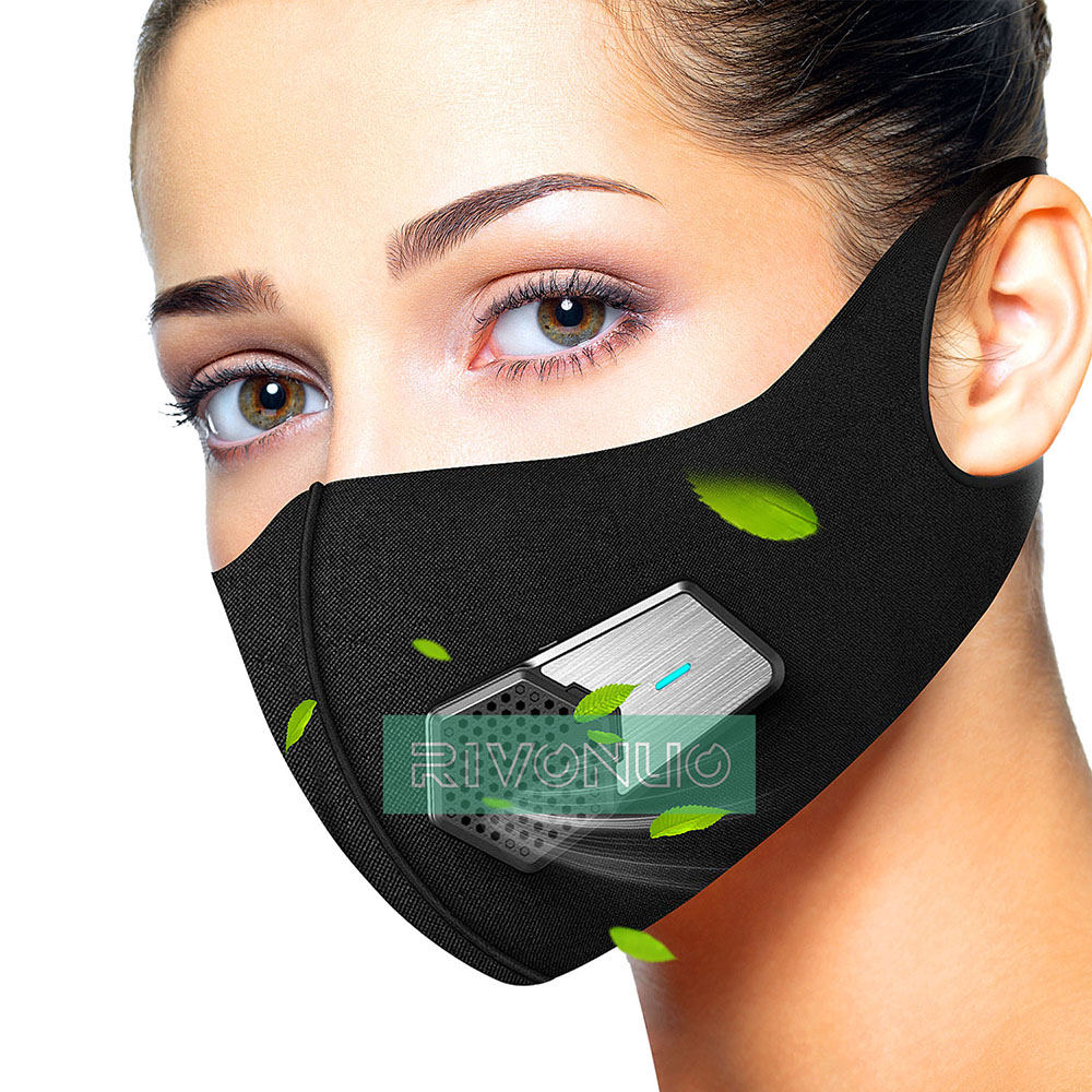 Fashion Electric Anti Dust Black Safety Sports Training Mask 2.0 Half N95 Respirator Sport Face Mask For  Air Pollution