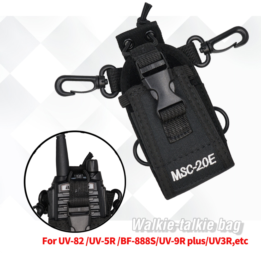 MSC-20E Nylon Multi-Function Pouch Bag Holster Carry Case For Mototrola BaoFeng 888S UV-5R UV-82 UV-9R Plus Bf888S Walkie Talkie