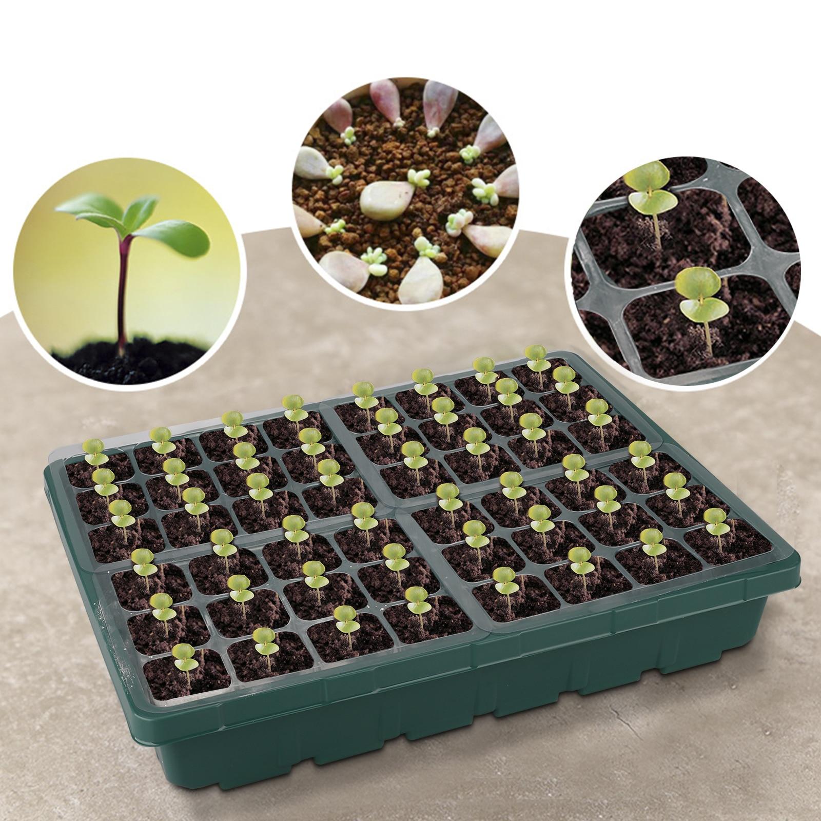 48 клетки сад растение горшок семена сад сад макета растение семена ростки ящик питомник саженец закваска сад двор саженец лоток