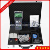 TDS 100H+S2 Digital Handheld Ultrasonic Flow Meter Water Flowmeter DN15 100mm with Clamp on S2 Sensor Transducer