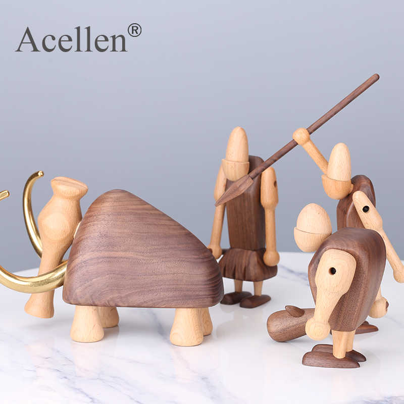 2X20*18CM Nordic Art Home Decoration Wooden Monkey Toys Ornaments Birthday Gifts