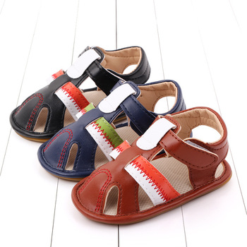 New Boys Sandals Soft Leather Closed-Toe Toddler Baby Summer Shoes Boys and Girls Children Beach Shoes Sport Kids Sandals ulknn boys sandals soft leather closed toe toddler baby summer shoes boys and girls children beach shoes sport kids sandals