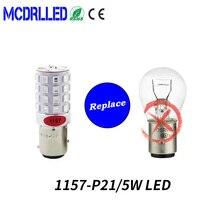 цена на Mcdrlled 1157 P21/5w Led 1156 Ba15s P21w Canbus Led Bau15s Py21w Led 45pcs 2835 Smd Auto Lamp Bulbs Car Led Light 12v-24v