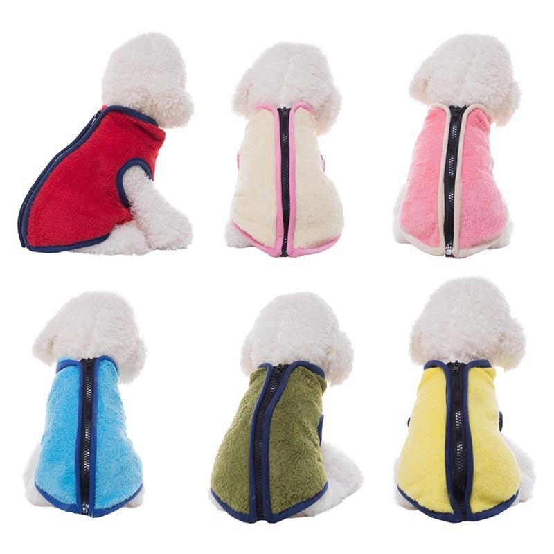 Жилет для собак, мягкая флисовая одежда для маленьких собак, однотонная собака карамельного цвета, футболка с поводком для собаки, d-образное кольцо, мопс, Йоркский плащ