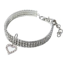 Cute Crystal Pet Collar Dog Accessories Necklace Cat Puppy