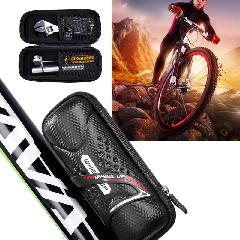 WHEEL UP <font><b>Bike</b></font> Bicycle Cycling Bag Phone Waterproof Bicycle Bags Bottle Repair Tools Kit Bag Bycicle <font><b>Accessories</b></font> <font><b>Carrier</b></font> Bag image